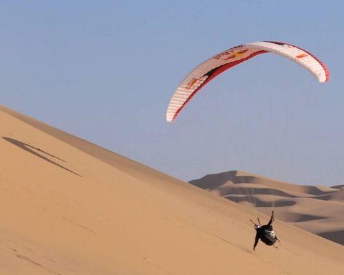 desert paragliding